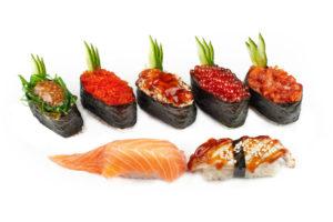 предметная съемка суши-роллы