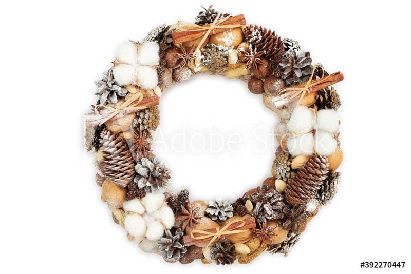 предметная съемка Christmas wreath